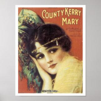 Poster de Kerry Maria del condado Póster