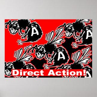 poster de la abeja de la acción directa