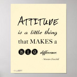 poster de la actitud
