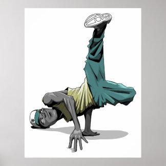 poster de la actitud de la danza de rotura