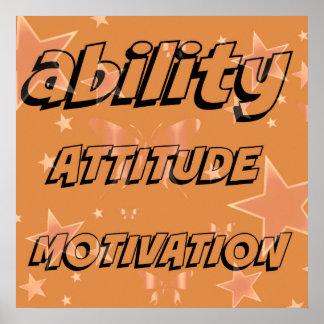 Poster de la actitud de la motivación de la