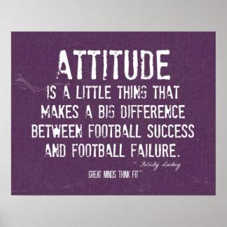 Poster de la actitud del fútbol