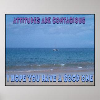 Poster de la actitud positiva póster