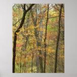 Poster de la acuarela del otoño