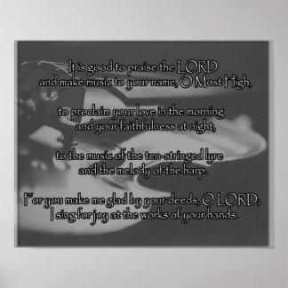 poster de la alabanza del sitio de la música