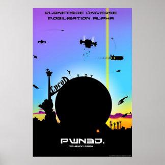 Poster de la alfa de la movilización del universo  póster