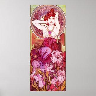 Poster de la amatista de Alfonso Mucha