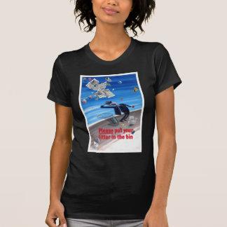 Poster de la Anti-Litera del vintage Camisetas