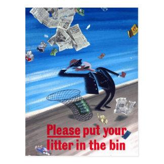 Poster de la Anti-Litera del vintage Postales
