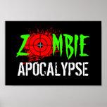 Poster de la apocalipsis del zombi
