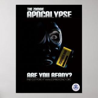¿Poster de la apocalipsis del zombi - está usted l