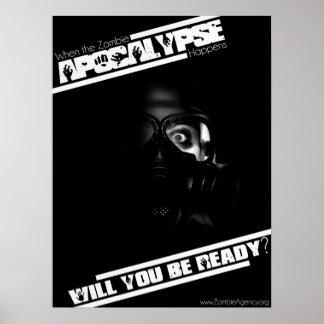 Poster de la apocalipsis del zombi - ultra negro