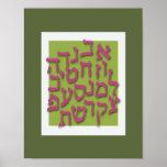 Poster de la apuesta de Alef - verde moderno