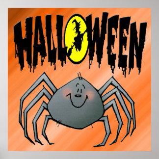 Poster de la araña de Halloween
