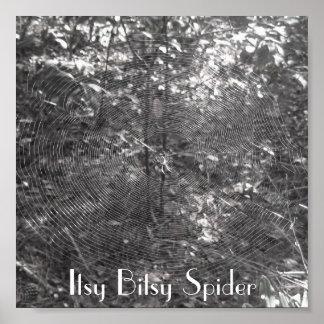 Poster de la araña de Itsy Bitsy