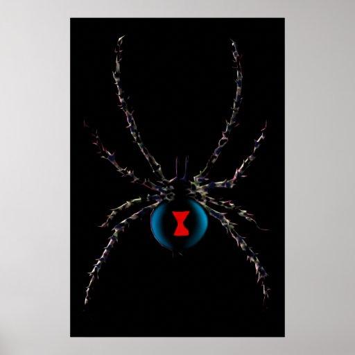 Poster de la araña de la viuda negra