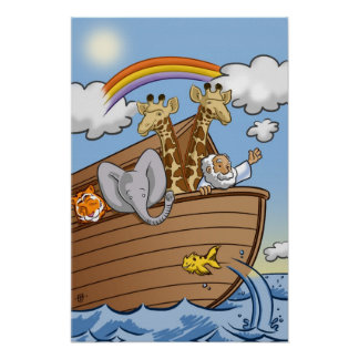 Poster de la arca de Noah por los estudios del bat