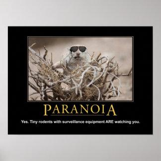 Poster de la ardilla de Demotivational: Paranoia Póster