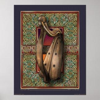 Poster de la arpa de O ffogerty 16x20