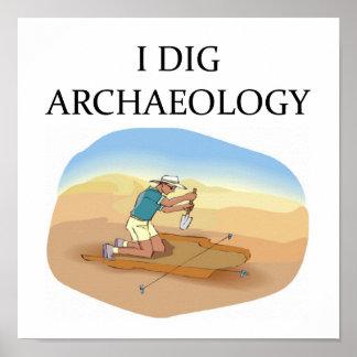 Poster de la arqueología póster