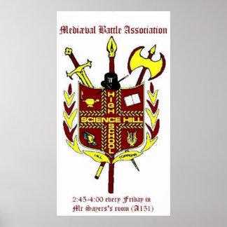 Poster de la asociación de la batalla de Mediæval Póster