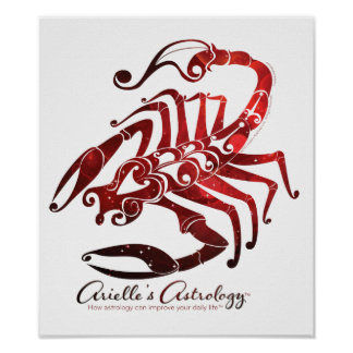 Poster de la astrología del escorpión