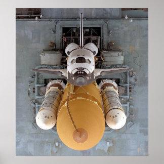 Poster de la Atlántida del transbordador espacial