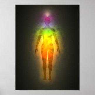 Poster de la aureola de la energía de Chakra