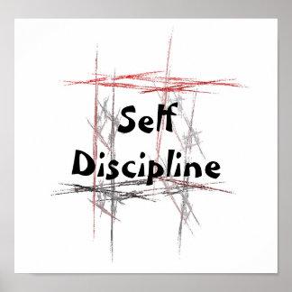 Poster de la autodisciplina de los artes marciales