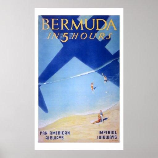 poster de la aviación del art déco de los años 30