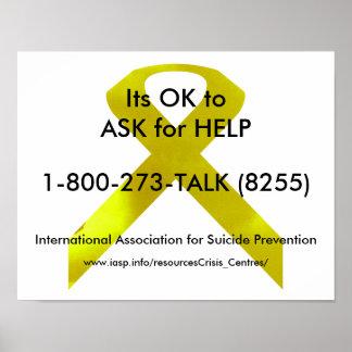 Poster de la ayuda de la conciencia del suicidio