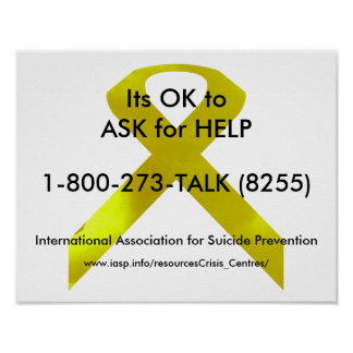 Poster de la ayuda de la conciencia del suicidio póster