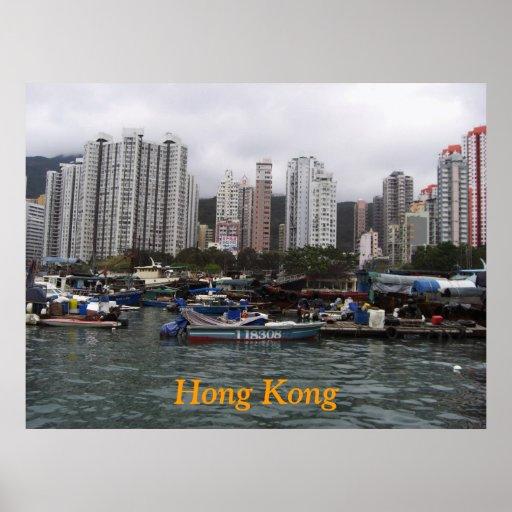 Poster de la bahía de Hong Kong Póster