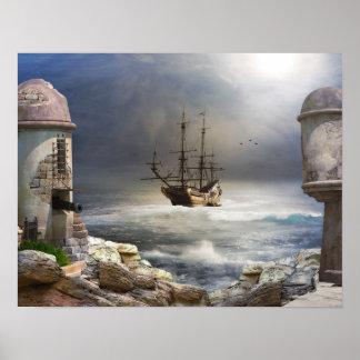 Poster de la bahía del pirata