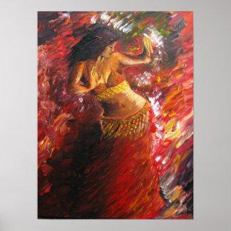 Poster de la bailarina de la danza del vientre