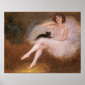 Poster de la bailarina del vintage