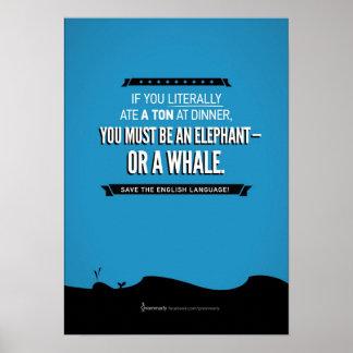 Poster de la ballena de Grammarly