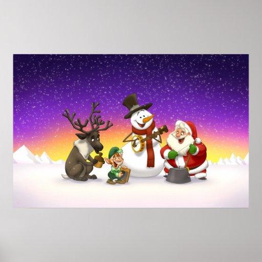 Poster de la banda de jarro del navidad