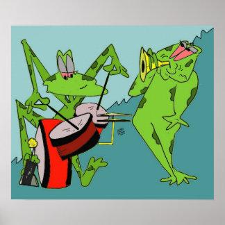 Poster de la banda de la rana