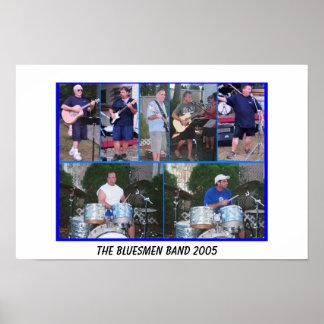 POSTER de la banda de los Bluesmen
