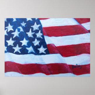 Poster de la bandera americana