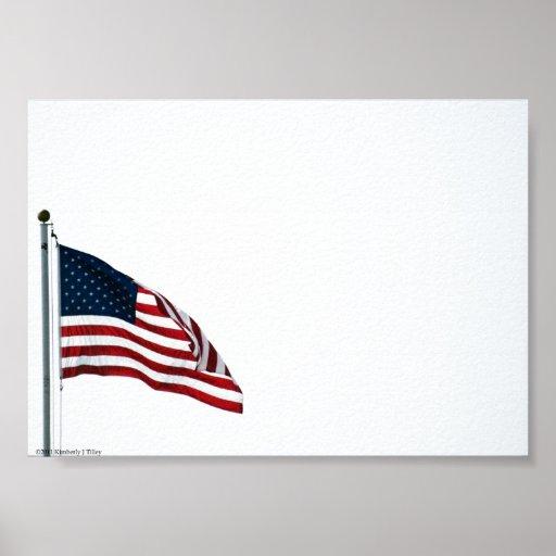 Poster de la bandera americana 2371