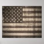 Poster de la bandera americana del vintage