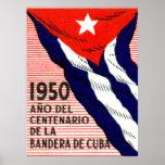 Poster de la bandera de 1950 cubanos