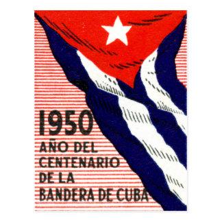 Poster de la bandera de 1950 cubanos postales