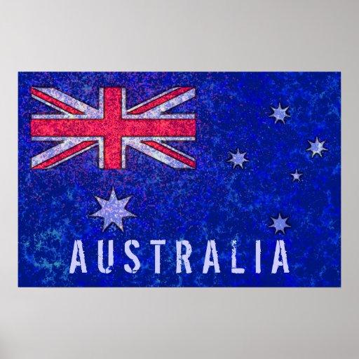 Poster de la BANDERA de AUSTRALIA