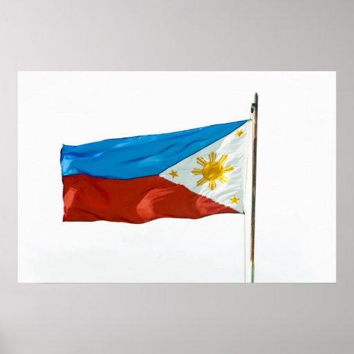 Poster de la bandera de Filipinas