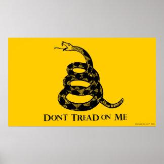 Poster de la bandera de Gadsden