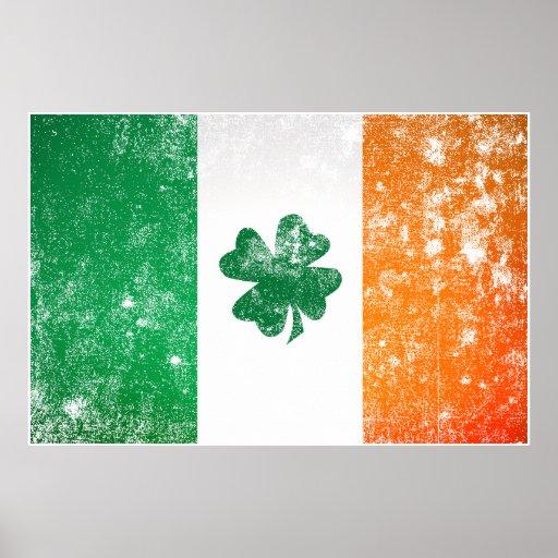 Poster de la bandera de Irlanda