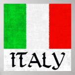 Poster de la BANDERA de ITALIA